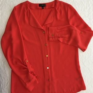 The Limited Red Button-up Blouse